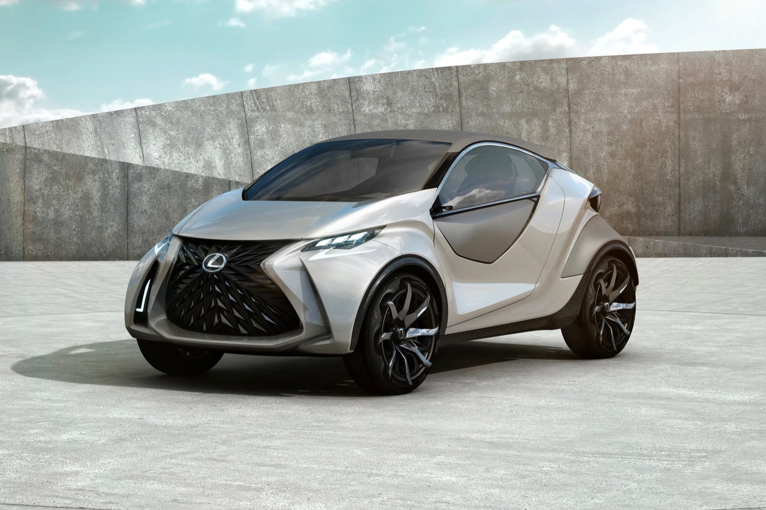 The first fully electric Lexus production car may not go