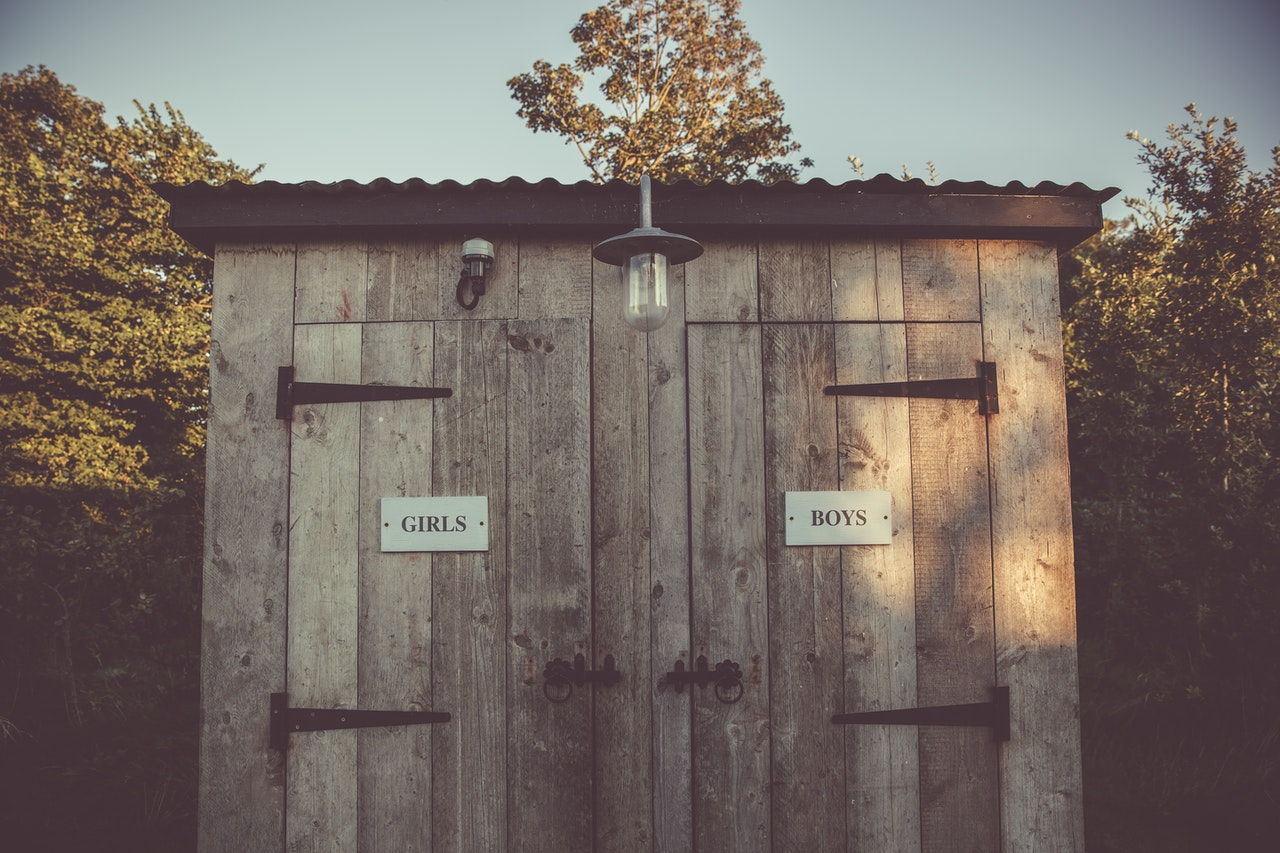 An outhouse is an old-fashioned toilet